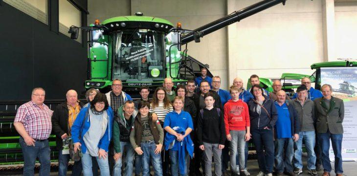 Erster Ausflug im Jahr 2019: Werksbesichtigung im    DEUTZ-FAHR LAND in Lauingen am 08.03.2019
