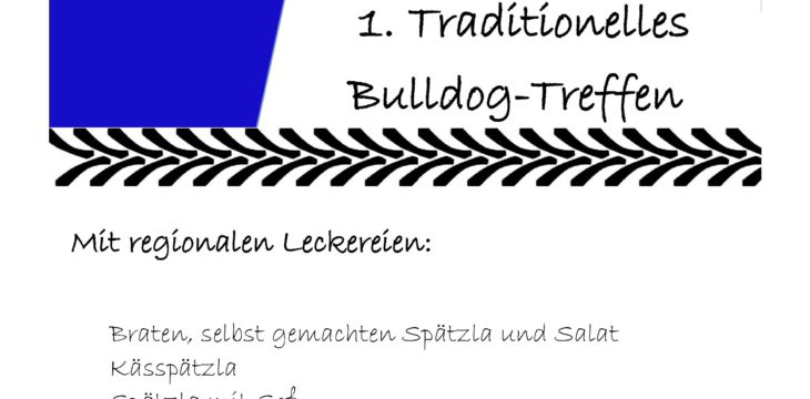 1. Traditionelles  Bulldog-Treffen